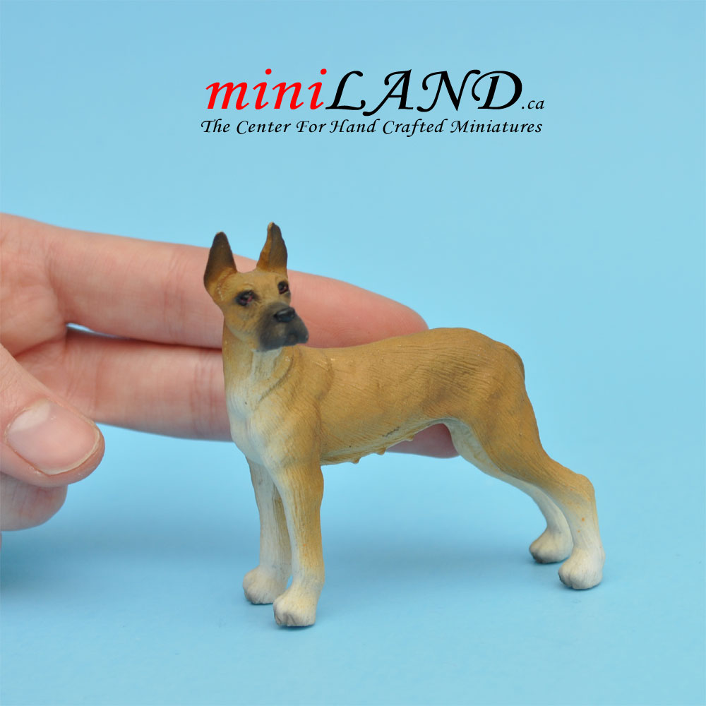 Great Dane Dog For Dollhouse Miniature 1:12 Scale