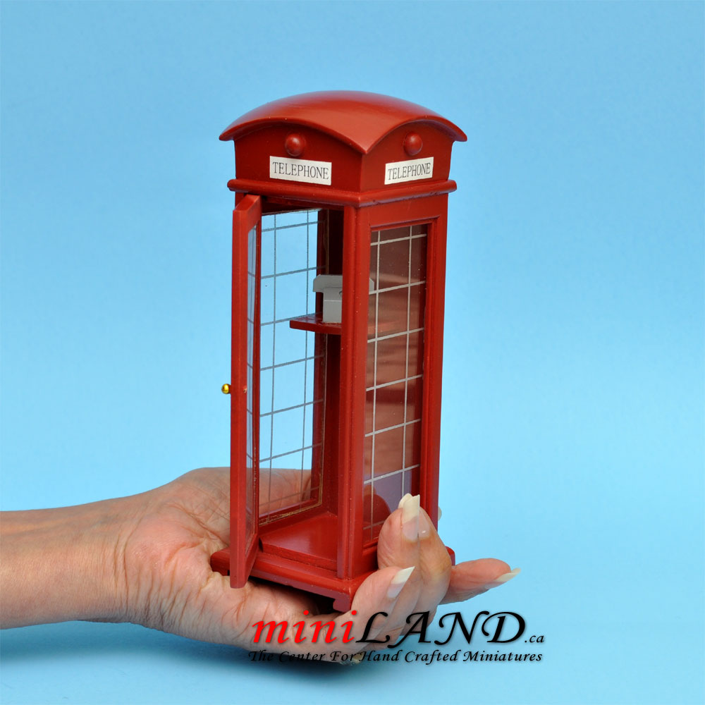2 Dollhouse Miniature Unfinished Metal 1//4 Scale Telephone