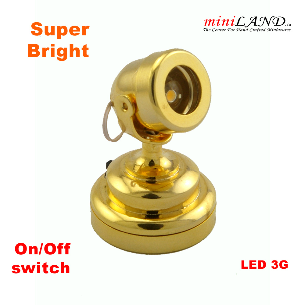 Brass Spot Light Lamp Led Super Bright With On Off Switch