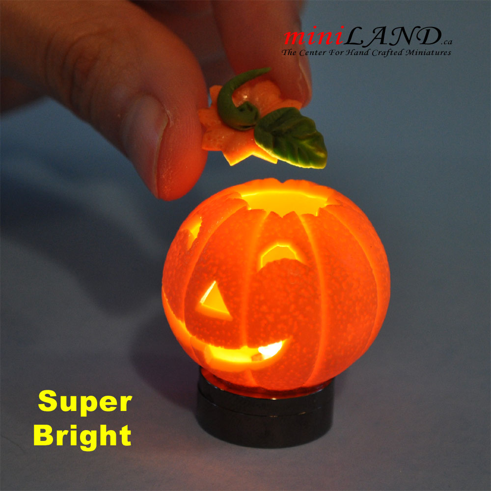 Halloween Pumpkin Bright Battery Led Lamp 1 12 On Off