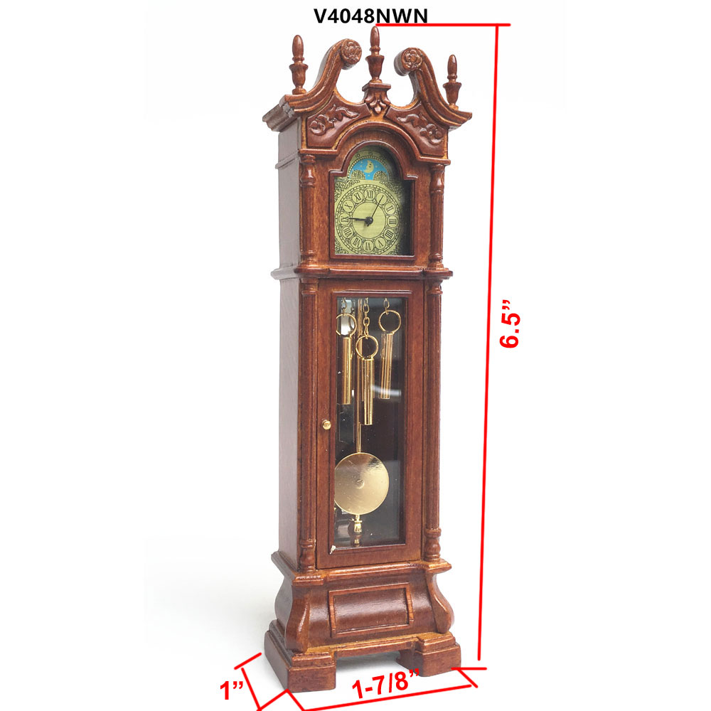 Dollhouse Miniature Unfinished Metal Clock