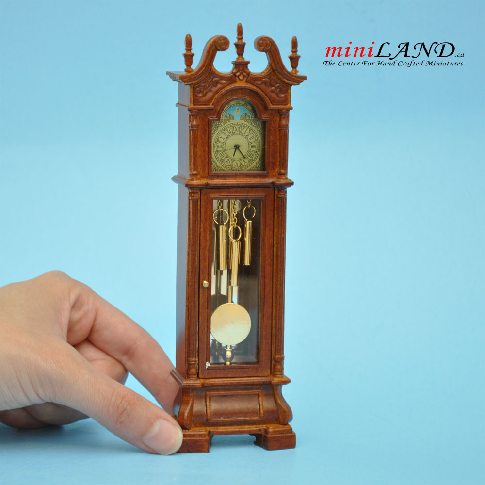 Dolls house grandfather clock in 1:12 scale