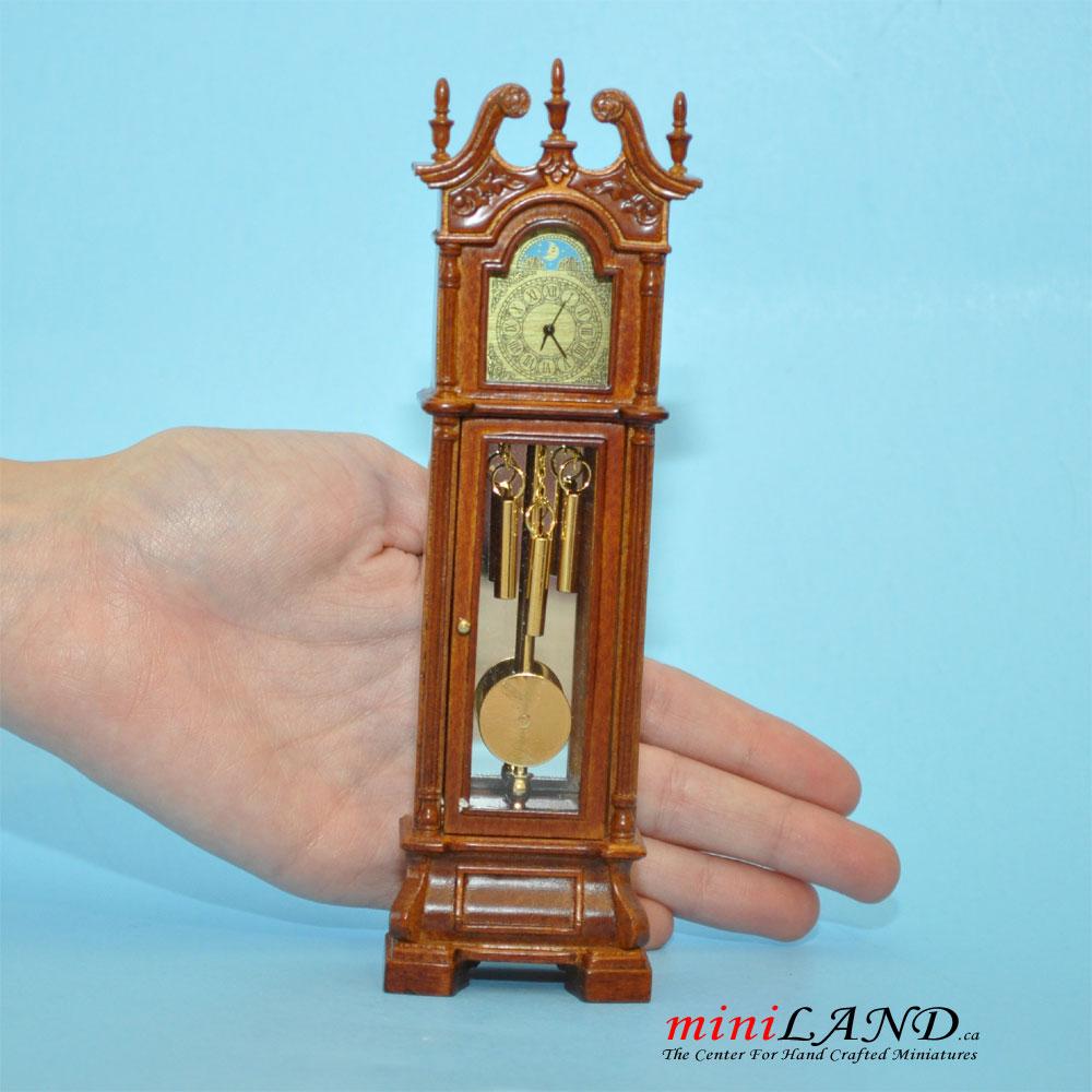 Dollhouse Miniature 1:12 Scale Blue Wall Clock