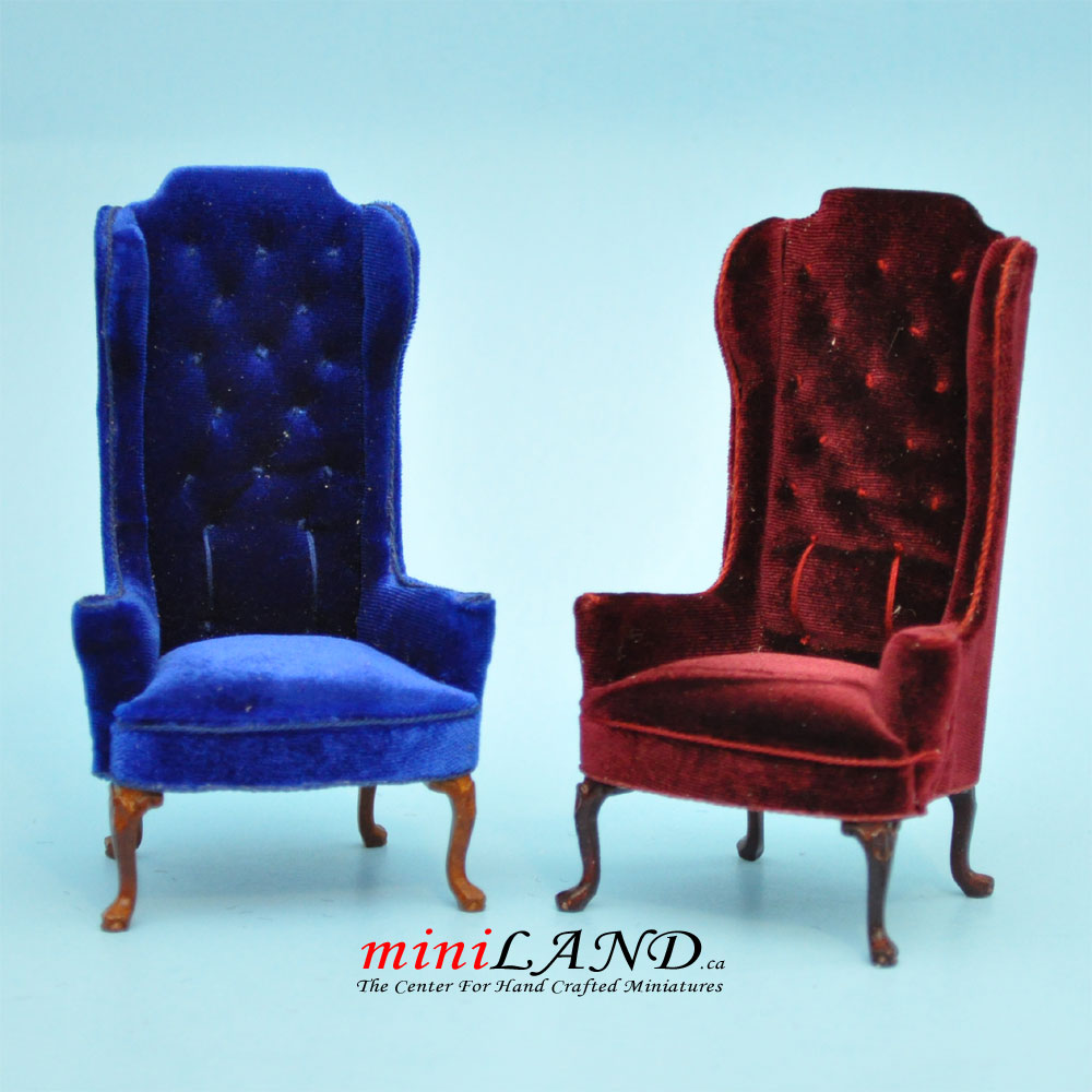 Luxurious Elegant Quality Tall Wingback Chair Royal Red