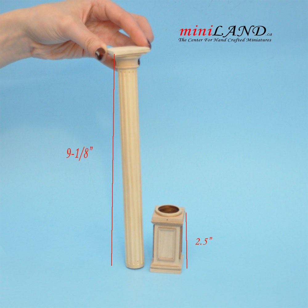 Round Column 4 Quot 10 Quot Telescopic Wood For 1 12 Dollhouse