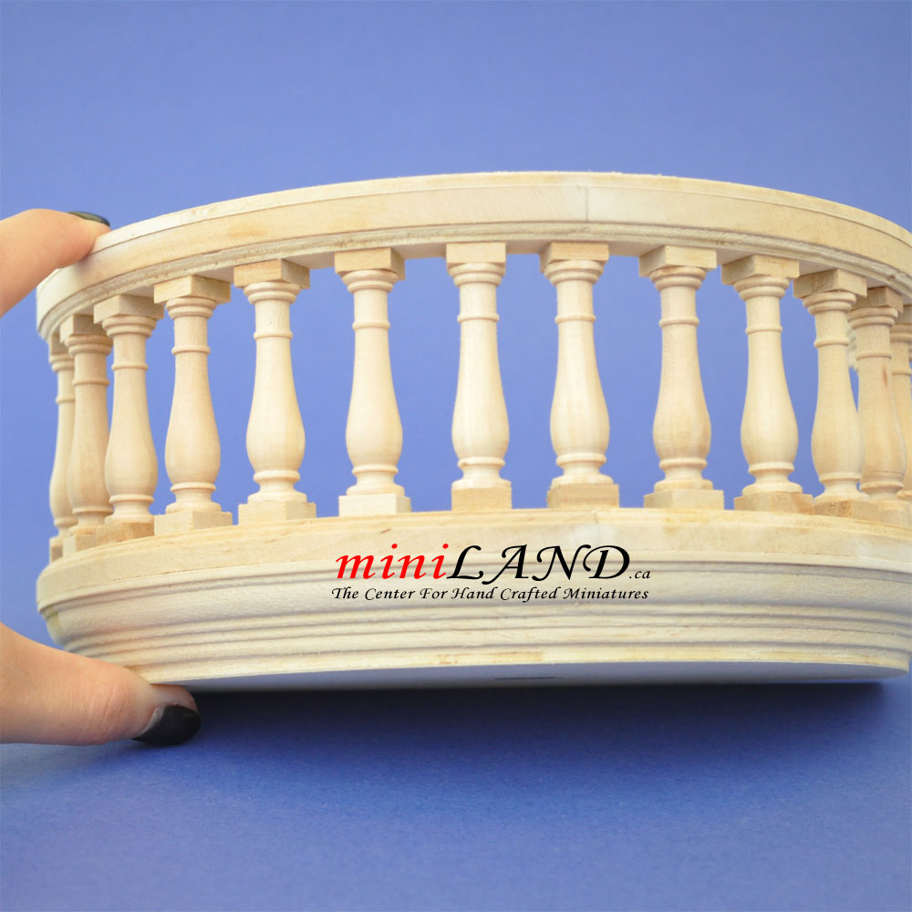 Big Wooden Romeo And Juliet Round Balcony 4 Quot R Unfinished
