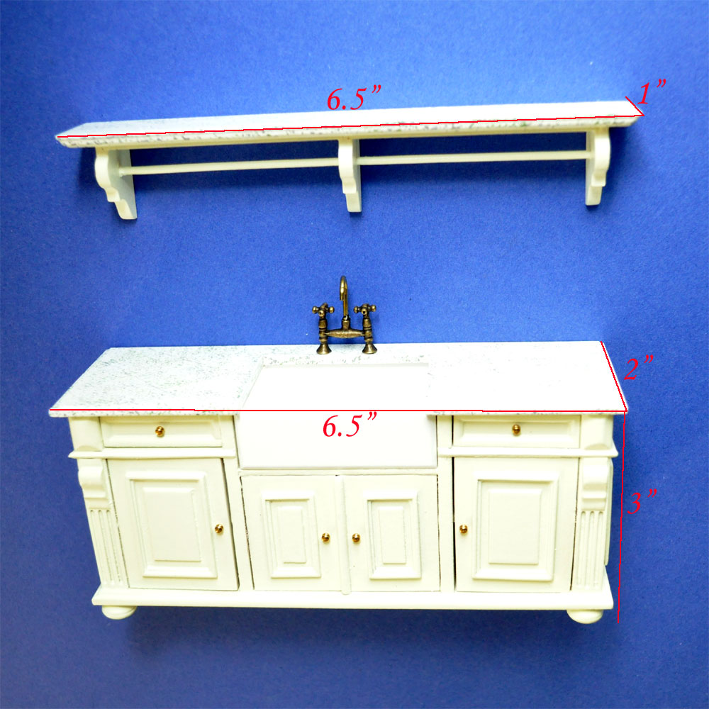 Edwardian Kitchen Sink: Antique-white Victorian Quality Kitchen Sink Unit Counter