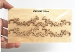 Large Wood Carved flowers Onlay Applique Unpainted 2pc for 1:6 or 1:4 dollhouse miniatures VM010UF
