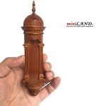 Large Wall niche for dollhouse miniatures 1:12 to 1:6  scale walnut