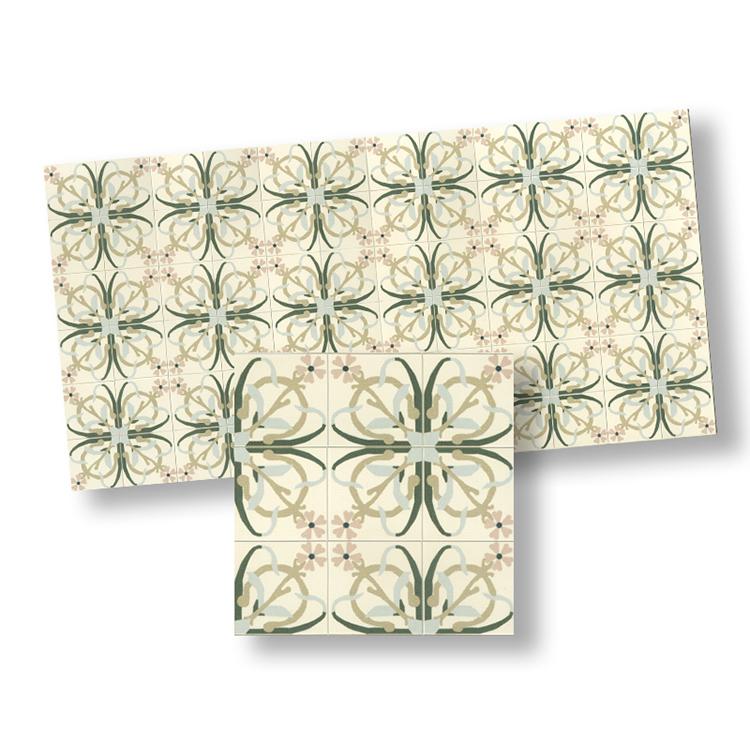Miniature Dollhouse Tile Flooring: Mosaic Floor Tiles For Dollhouse Miniature 1:12 Scale