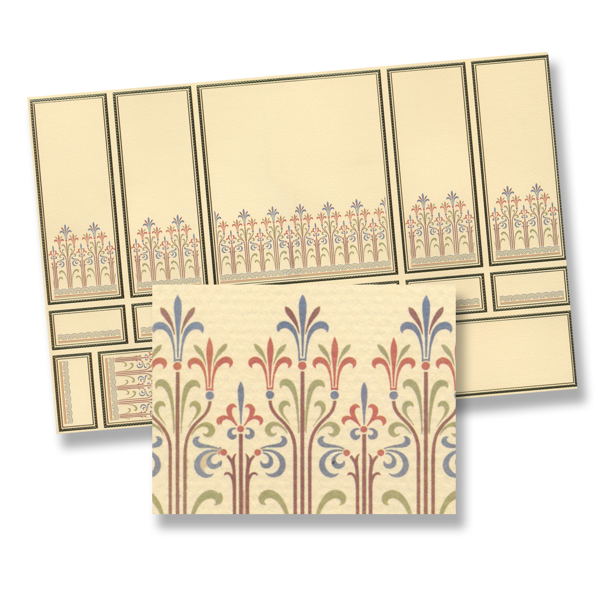 Deco Wall Panel Section For Dollhouse Miniature 1:12 Scale