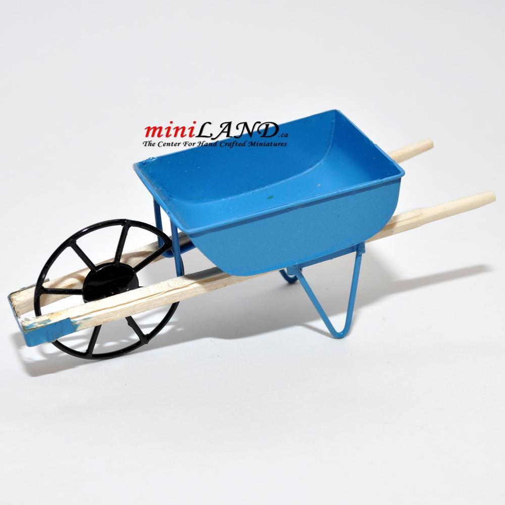Dollhouse Miniature White Garden Wheelbarrow Town Square Miniatures EIWF186