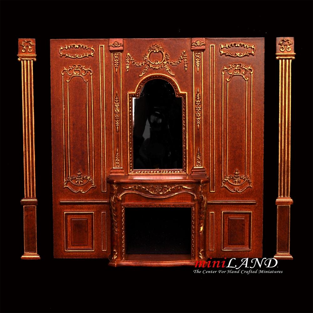 Fireplace Panel Royal Paneling Line Walnut