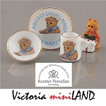 1.653/8 Teddy ABC Breakfast Set  Reutter Porzellan Dollhouse miniature 1:12