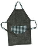 Mens Apron, Green dollhouse miniature 1:12