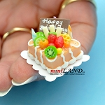 Happy birthday  cake Dollhouse miniatures 1:12 A01