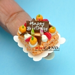 Happy birthday  cake Dollhouse miniatures 1:12 A03