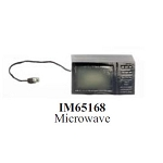 Black Microwave Oven with Cord Dollhouse Miniature 1:12 scale