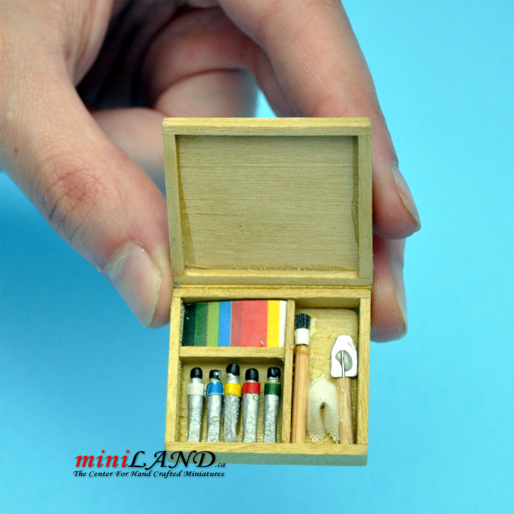 Artist S Paint Set With Brushes And Paint Dollhouse