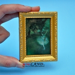 Picture painting in gold frame dollhouse miniature 1:12 scale