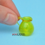 Glass pitcher for dollhouse miniature yellow 1:12 scale