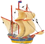 SHIP Toy Boats miniature dollhouse 1:12 RA0319
