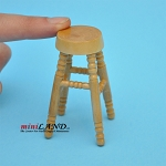 Tall wooden stool economic 1:12 dollhouse miniature