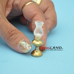 Gold sidetable oil lamp dollhouse miniature 1:12 scale