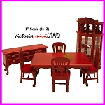 Economy Set 6pcs Dining Room 1:12 scale dollhouses miniature