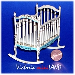 Fine Quality Belmont baby Crib 4644BF for 1:12 Dollhouse miniatures