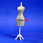 Fine Quality Dress Form  for 1:12 Scale dollhouse miniature wood Mannequin