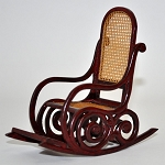 Miniature HighEnd Victorian Rocking Chair 9902WN dollhouse