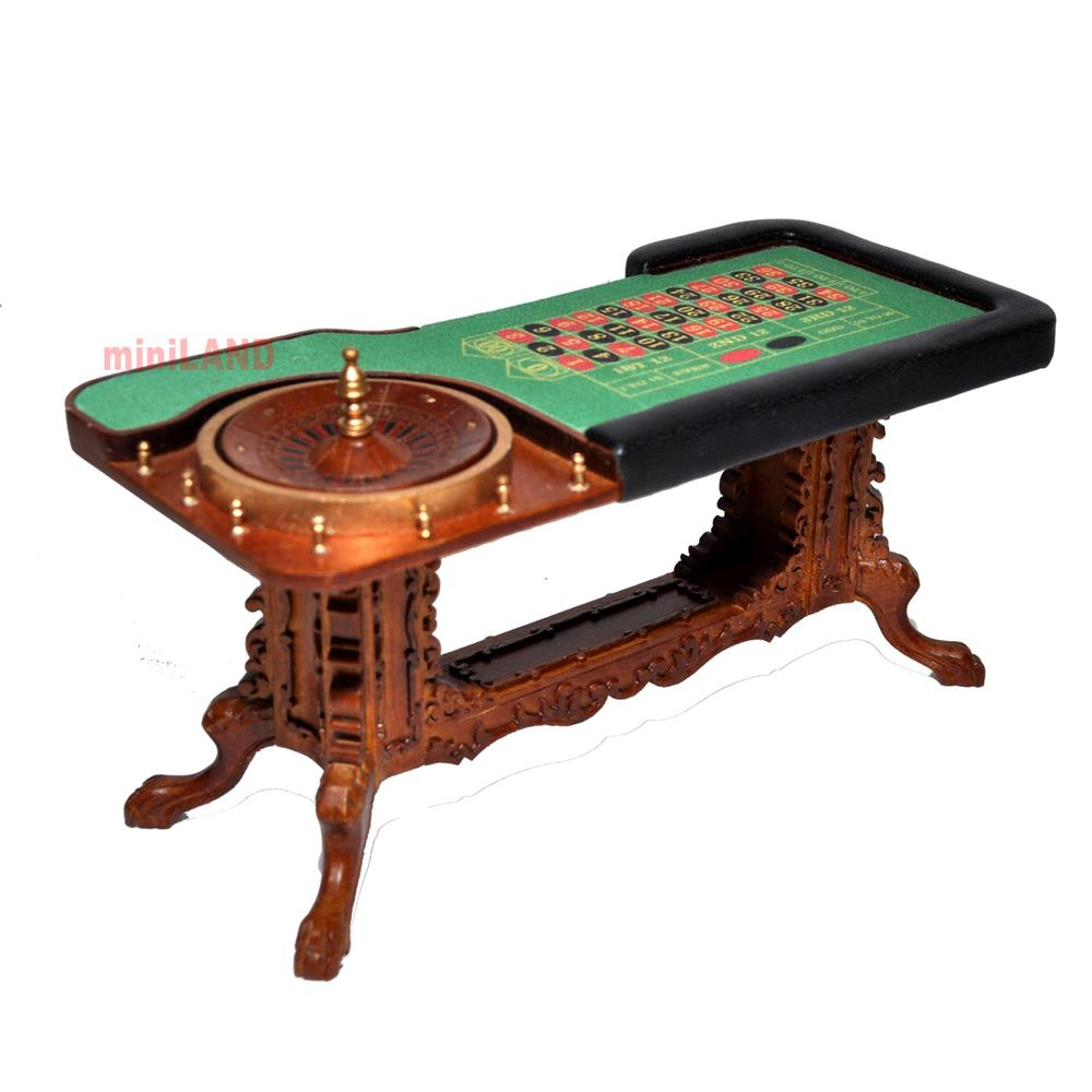 Roulette Casino Wheel play game Dollhouse miniature 112 bet gamble