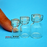 Glass Canning Jars with Wire Bail Doll House Miniatures, pack of 3 sizes.