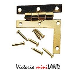 Brass HL Hinge w/nails 4pc/pkg