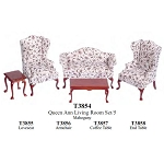 Economic 5 PCS LIVING ROOM T3854  1:12 scale
