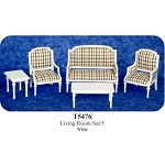 Economic 5 PCS LIVING ROOM T5476 for dollhouse miniatures 1:12 scale