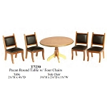 Economic 5 PCS-  ROUND TABLE WITH 4 CHAIRS T7230 1:12 scale