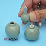 Green Glaze ceramic Vase  3 Pcs. PW-V104 1:12 scale