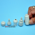 White Glaze Vase  5 Pcs. PW-V102