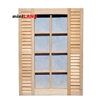 8-Light Window with Shutters 1:12 Scale dollhouse miniature wood