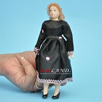 Lady in Black Dress Porcelain doll  5.5