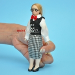 Female with Glasses Porcelain teacher doll  5.5