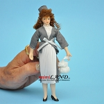 Female in Pleated Dress Porcelain doll  5.5