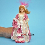 Victorian Lady in Pink Porcelain doll  5.5