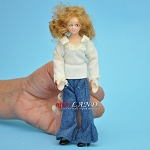 Teenager in Jeans Porcelain doll  5.5
