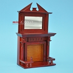 Victorian Elegant Mirrored Fireplace MH1:12 dollhouse miniature