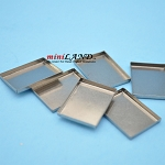 Silver metal Cookie trays Sheets -6 pcs. for 1:12 dollhouse miniature