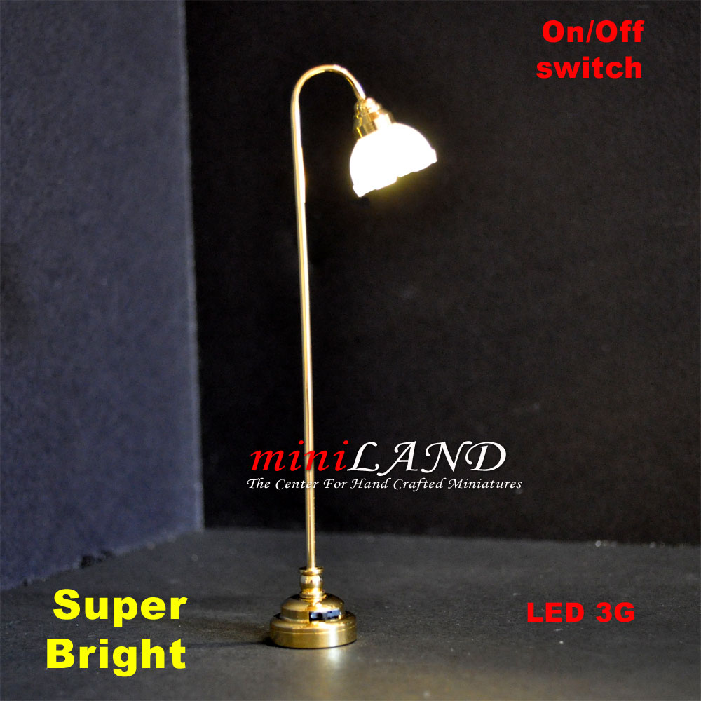 Fluted shade floor lamp led super bright with onoff switch 5 for 1 quick view aloadofball Image collections