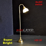 Fluted shade floor lamp LED Super bright with On/off switch  5